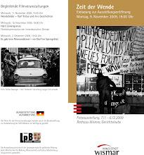 """Photo: Ausstellungseröffnung Zeugnisse der Wendezeit -  Ereignisse im Herbst 1989.  Am Montag, 9. November, um 19 Uhr, wird in der Gerichtslaube des Wismarer Rathauses die Fotoausstellung """"Zeit der Wende"""" durch Senator Thomas Beyer eröffnet. Fotos aus Wismar, Schwerin und Ludwigslust. Herbst 1989, """"friedlichen Revolution"""" in Mecklenburg   Sönke Dwenger und Volker Jennerjahn.  http://youtu.be/77GJ1yBoOFc  http://www.beepworld.de/members5/jennus/staatssicherheit.htm"""