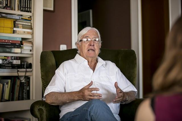 Carlos Pérez Siquier, durante una entrevista con LA VOZ (Foto: Fran Muñoz).