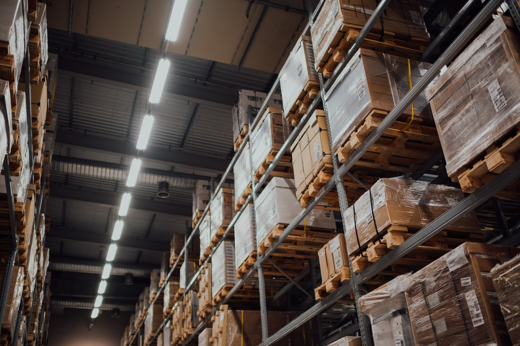 warehouse with fulfilling packages
