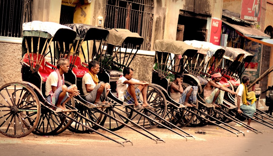 Burden  of Legacy by Preetam Chakraborty - Transportation Other ( hand pull carts, burden, kolkata, rickshaws, street )