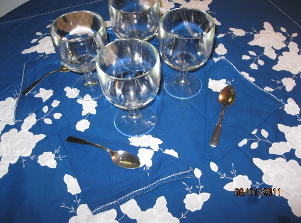 Use your fancy setting and pretty goblets or parfait glasses!