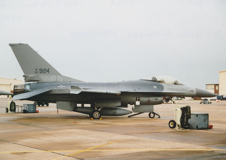 Photo: 82-0924/-  F-16A  184FS/Arkansas ANG Fort Smith Municpal Airport/Ebbing ANGB Base Visit 23rd October 2000