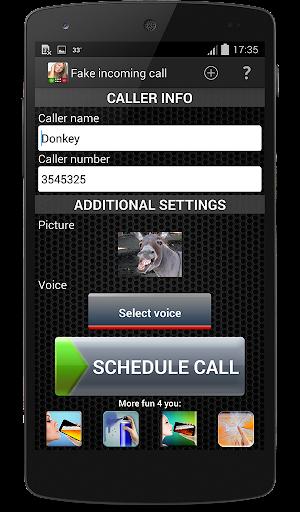 Fake incoming call