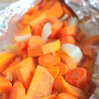 Tin Foil Packet Root Vegetables.