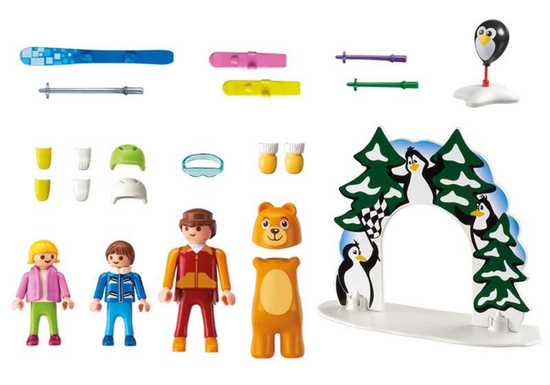 Contenido real de Playmobil® 9282 Escuela de Esquí
