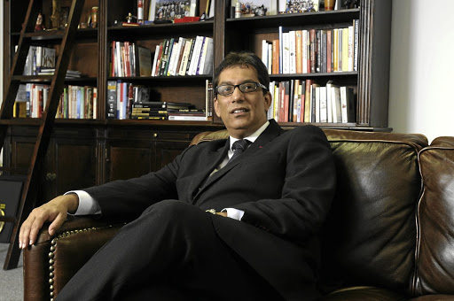 African unicorn: Iqbal Survé, chairman of Sekunjalo Investments. Survé is seeking to raise a minimum of R3bn via a private placement despite the fact that the company he has cobbled together is technically insolvent and has a R2.3bn hole in the media balance sheet. Picture: Hetty Zantman