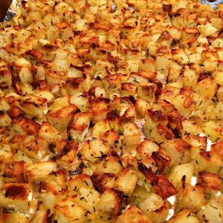 Oven Roasted Breakfast Potatoes.