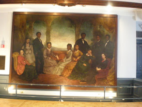 Photo: original painting sent back by Queen Victoria of the Jubilee Singers