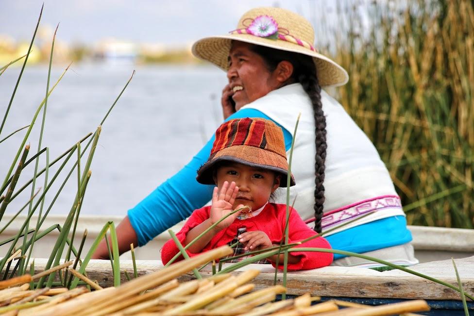 Jezioro Titicaca, wyspy Uros