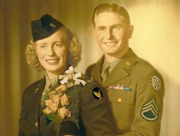 Uncle Luther And Aunt Marjorie Alston Wedding Picture (world War Ii)