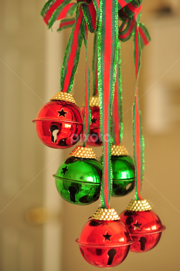 Christmas by Abet Rhupert - Artistic Objects Other Objects ( holiday, decors, christmas, red&green bells, pwcbells )