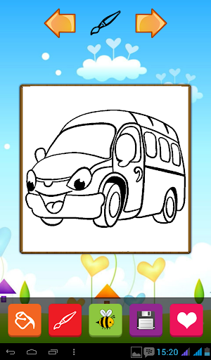 Funny Cars Coloring Games