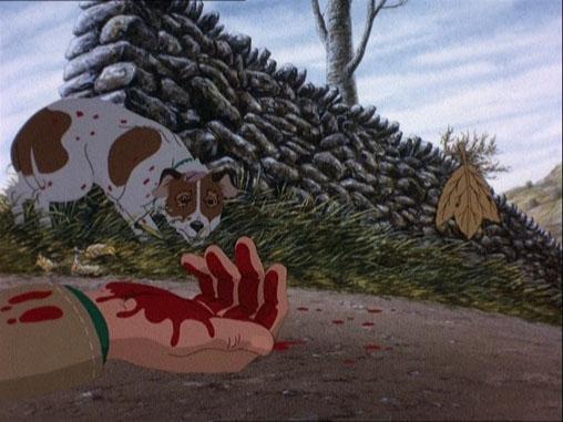 Plague dogs movie scene