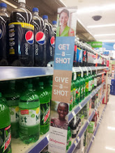 Photo: As I shopped I saw signs everywhere reminding me about the Get A Shot Give A Shot Program!