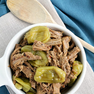 Slow Cooker Italian Pepperoncini Shredded Beef