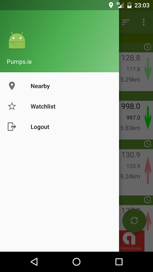 Pumps.ie- screenshot
