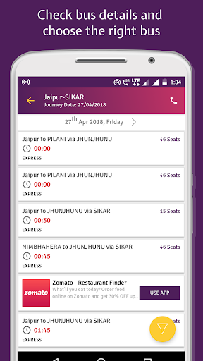 RSRTC Bus Schedule, Bus Ticket, Time Table by NetQ