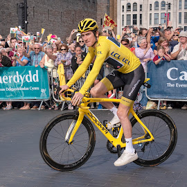 Welcome Home by Sarah Tregear - Sports & Fitness Cycling ( sky, jersey, yellow, wales, cycling, thomas, team, geraint, cardiff, bike,  )