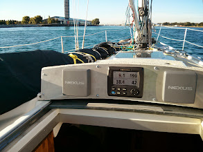 Photo: Making 9 knots on the current in the St Claire River