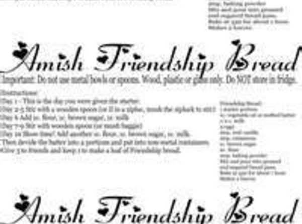 Designer Coffee Amish Friendship Bread Recipe