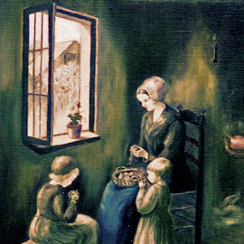 The potato woman by Bob Has - Painting All Painting ( child, woman, potato, paintinold )