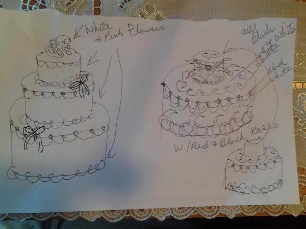 Drawing Of Terra's Wedding Cake Recipe