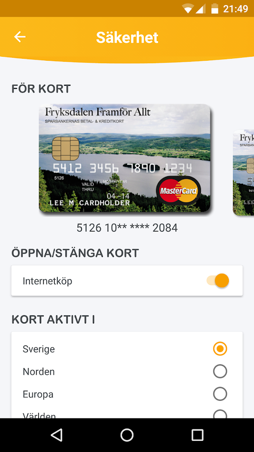 Fryksdalens Sparbank- screenshot