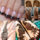 Hair styles,Nail Paint,Mehendi