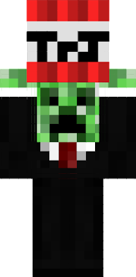 A Creeper In a Suit Holding Tnt