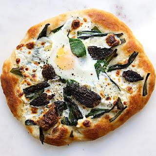 Pizza with Ramps and Morels.