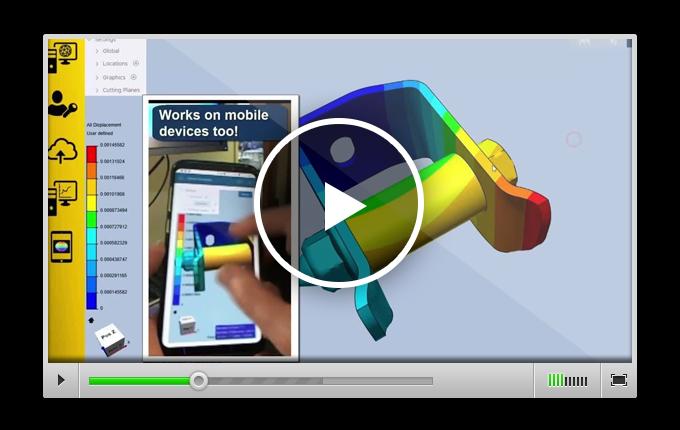 видео с демонстрацией работы облачного сервиса ANSYS Cloud