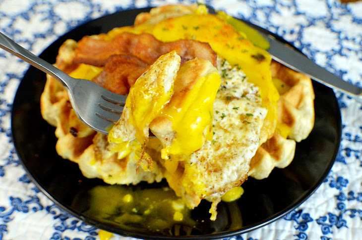 Maple Bacon Chicken Waffles with Hollandaise Sauce   15 Minute Meals Recipe