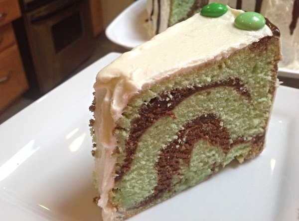 Irish Mint Cream Marble Pound Cake