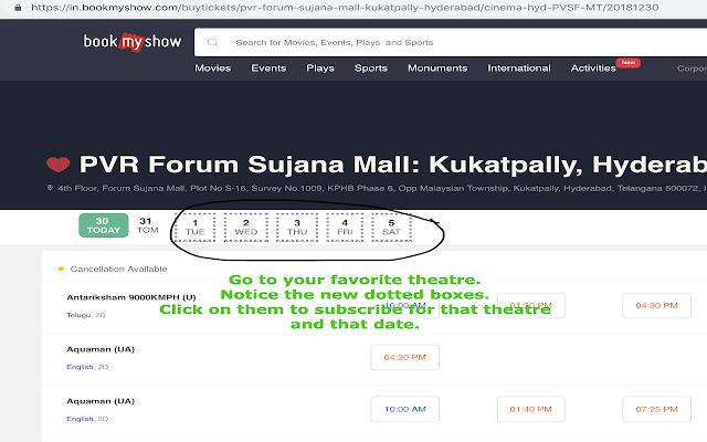 BookMyShow Ticket Notifier
