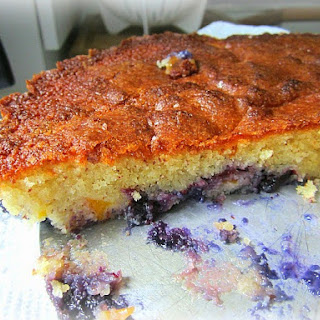Nectarine & Blueberry Cake.....oh my!