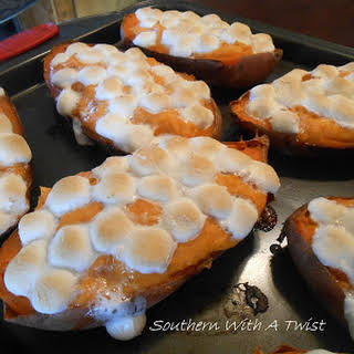 Twice Baked Sweet Potatoes.