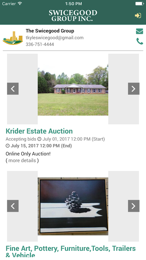 Swicegood Auctions- screenshot