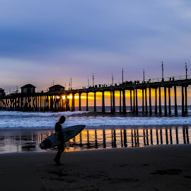 End of Surf Session Image by Rich AMeN Gill by Rich Gill - Landscapes Sunsets & Sunrises ( rich amen gill, sunset, west coast, huntington beach, california coast, rich gill )