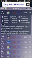 Screenshot of WKRG Weather