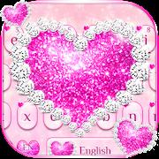 الوردي موضوع لوحة المفاتيح الماس APK