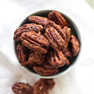 Spicy Chocolate Candied Pecans.