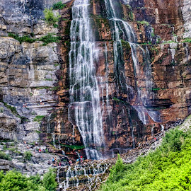 lower falls by Bruce Newman - Landscapes Mountains & Hills ( nature, waterfall, nature mountains, dramatic, landscape, colorful,  )