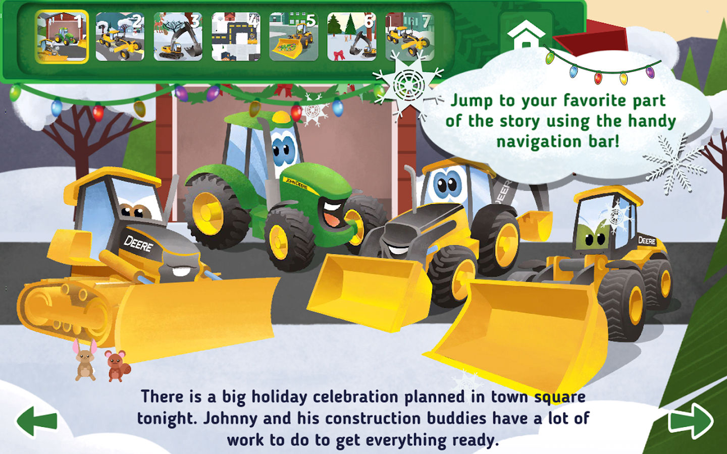 Johnny Tractor's Snow Day- screenshot