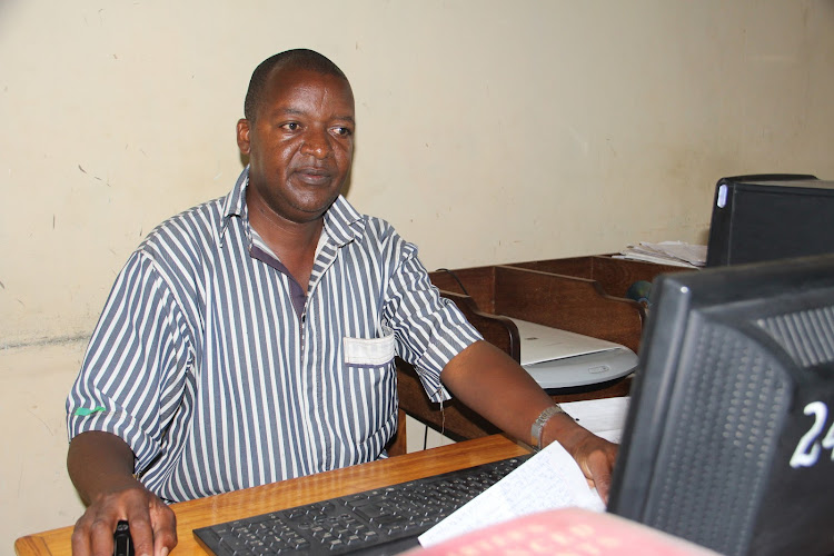 Reformed convict Tony Njogu, who has written 12 children's books at Kitengela prison