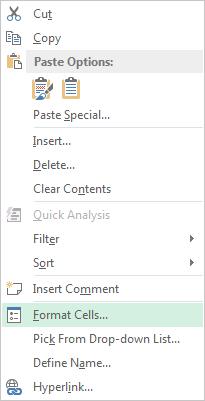 Các kiểu dữ liệu trongMicrosoft excel
