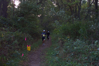 Photo: Approaching mile 70 with pacer Rick.