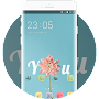 Pink Flower Theme for Girls: Love You Wallpaper HD APK icon