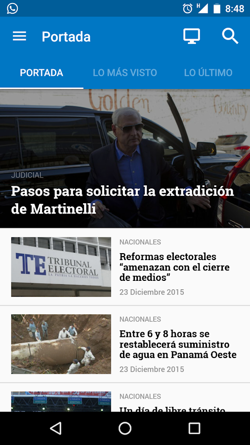 TVN Noticias para Android- screenshot