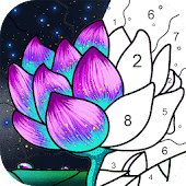 Paint By Number - Free Coloring Book & Puzzle Game Icon