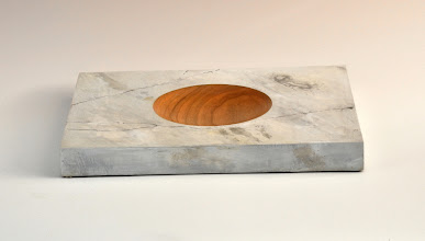 "Photo: Clif Poodry - Rectangle Bowl - 8"" x 12"" - Cherry, Acryllic ""Marble"""